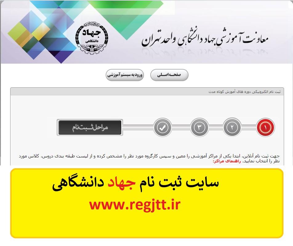 سایت ثبت نام جهاد دانشگاهی تهران